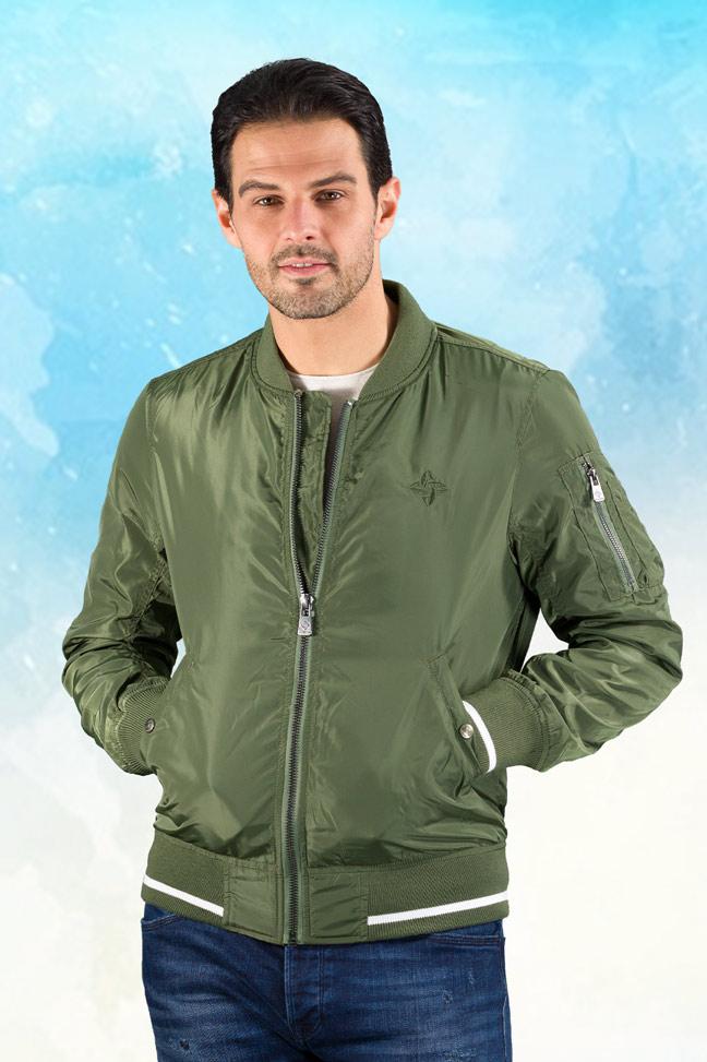 Muška prolećna jakna - Sportska i Casual - Invento Jet - Zelena