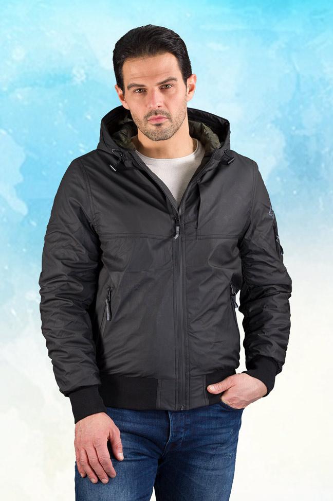 Muška prolećna jakna - Sportska i Casual - Invento Norman - Crna