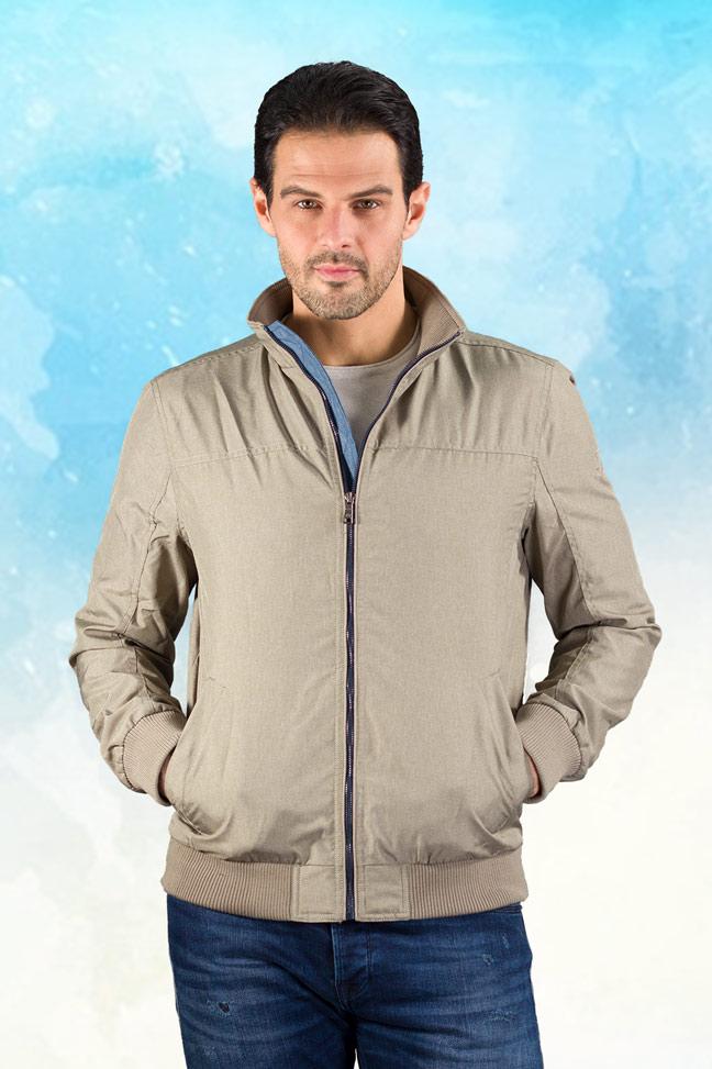 Muška prolećna jakna - Sportska i Casual - Nill - Bež