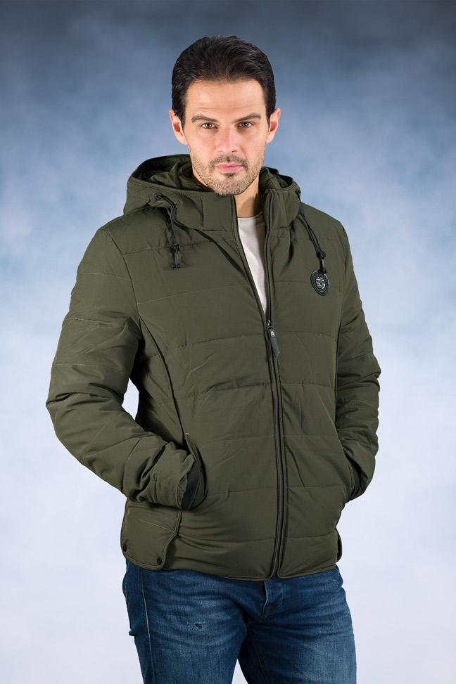 Muška zimska jakna - Sportska i Casual - 18802 - Tamno zelena