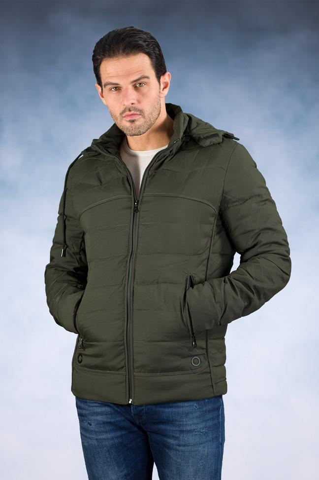 Muška zimska jakna - Sportska i Casual - 8106 - Tamno zelena