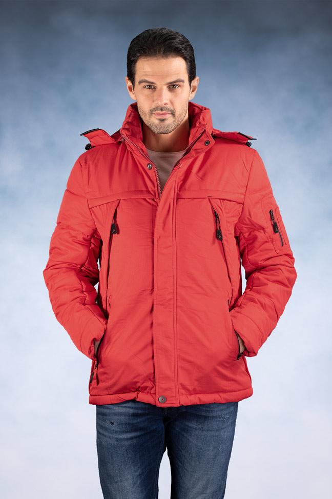 Muška zimska jakna - Sportska i Casual - ALN-82580-4 - Crvena
