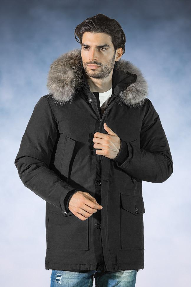 Muška zimska jakna-Sportska i Casual-Staff Aldo-Crna