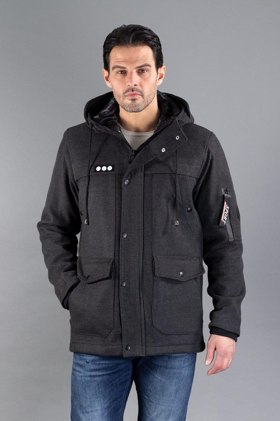 Muški kaput - 0316 - Tamno siva