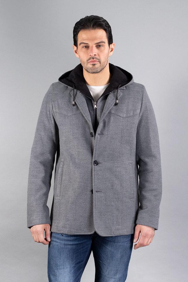 Muški kaput - 0327 - Siva