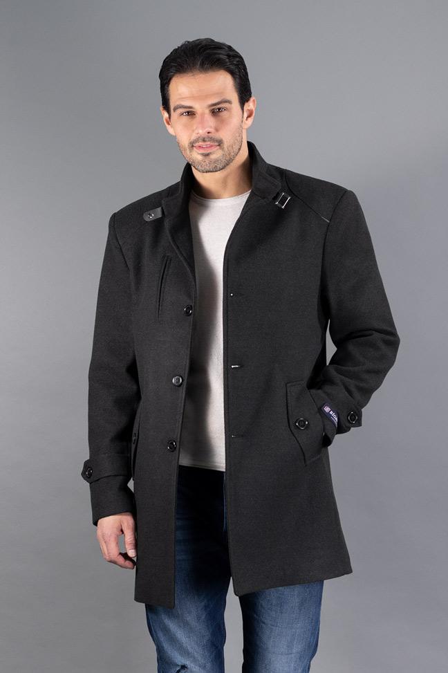 Muški kaput - 234-133 - Tamno siva