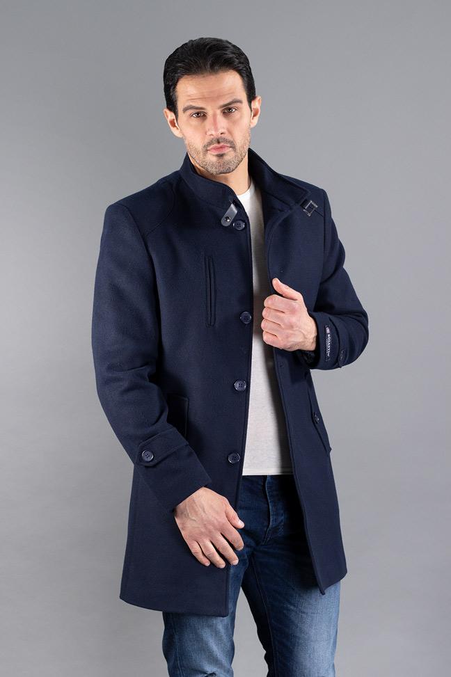Muški kaput - 234-133 - Teget