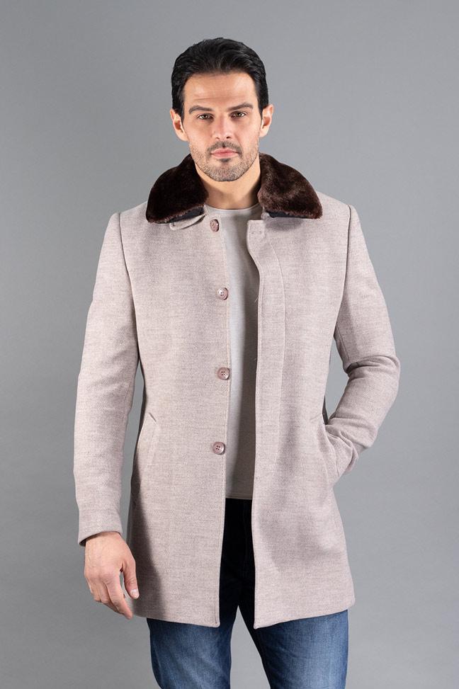 Muški kaput - 3022 - Krem