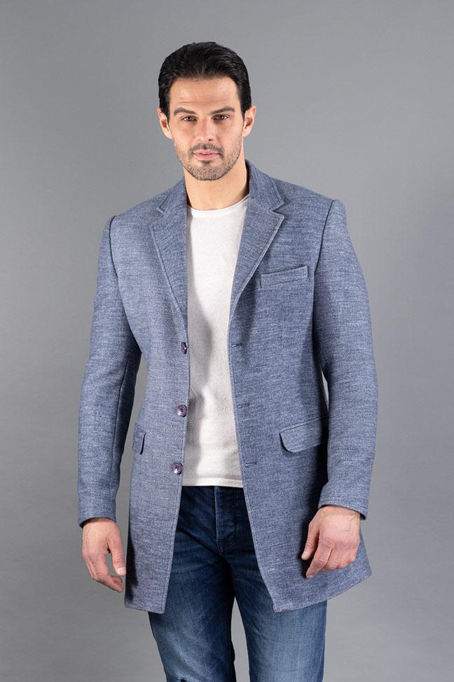 Muški kaput - 3023 - Plava