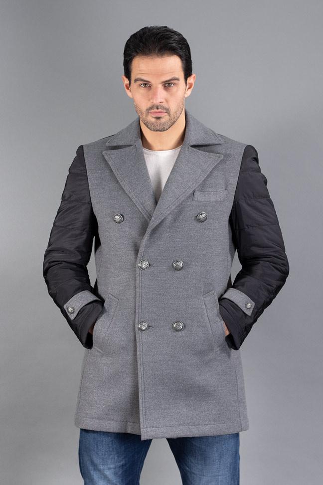 Muški kaput - 4103 - Siva
