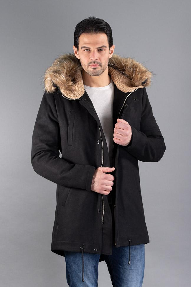 Muški kaput - IK0355 - Crna