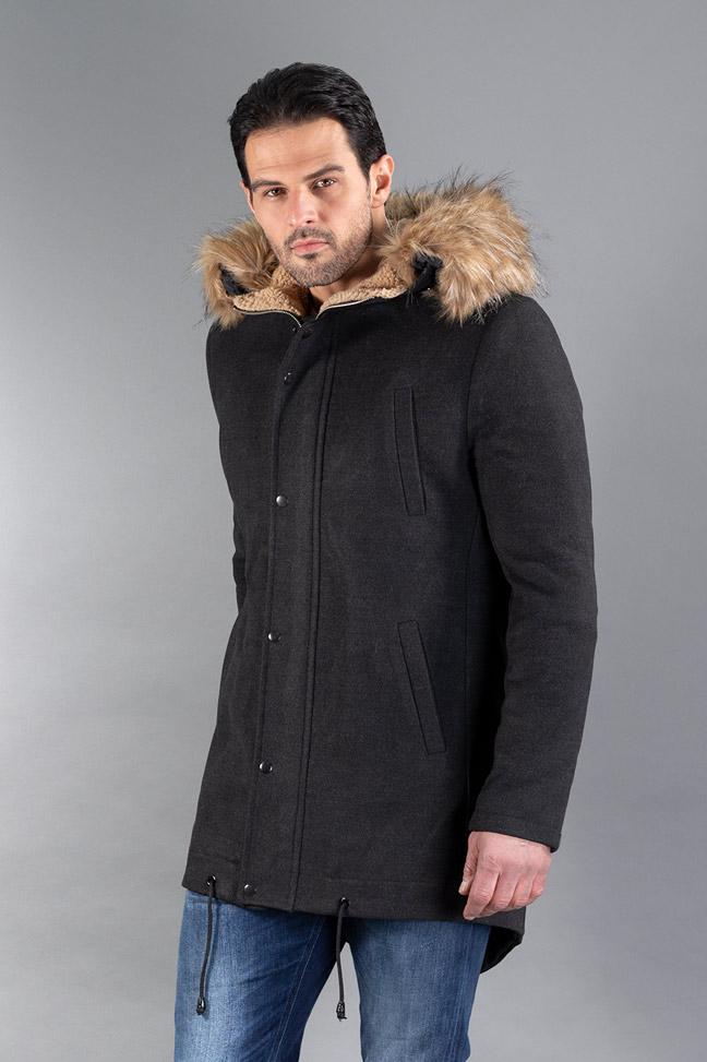 Muški kaput - IK0355 - Tamno siva
