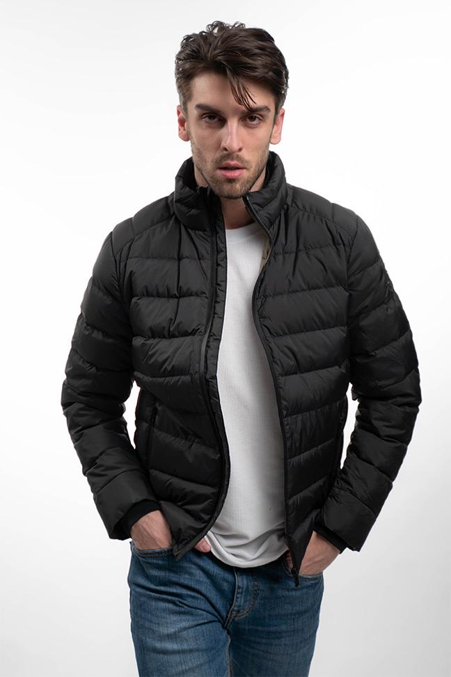 Muška prolećna jakna - Sportska i Casual - Invento Cloud - Crna