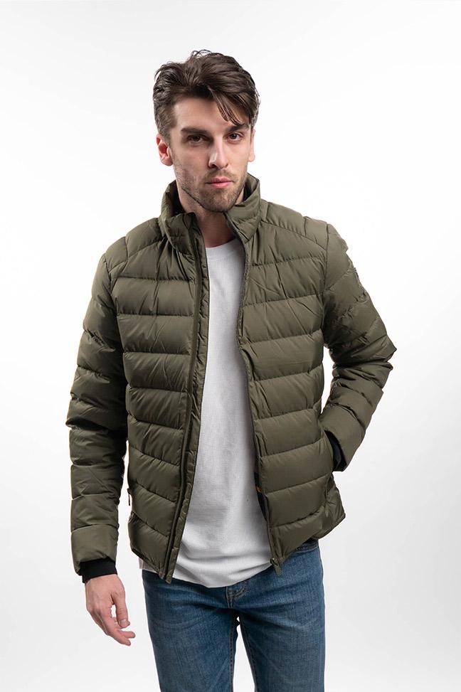 Muška prolećna jakna - Sportska i Casual - Invento Cloud - Maslinasto zelena