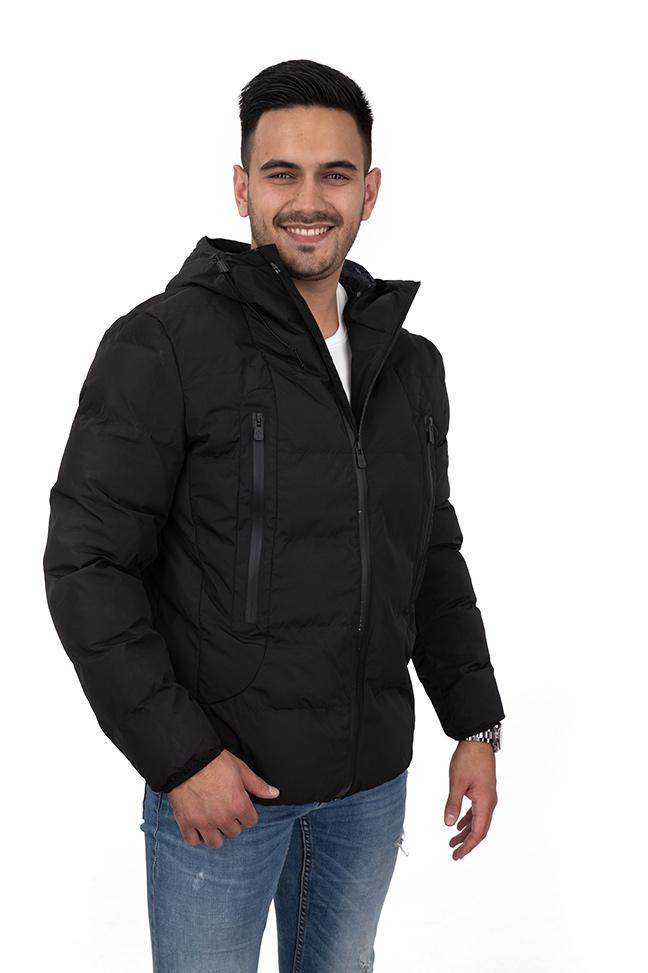 Muška prolećna jakna - Sportska i Casual - Invento Sten - Crna