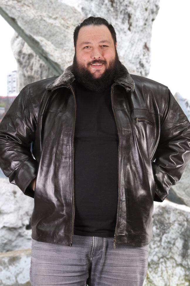Muška kožna jakna - Rambo - Crna
