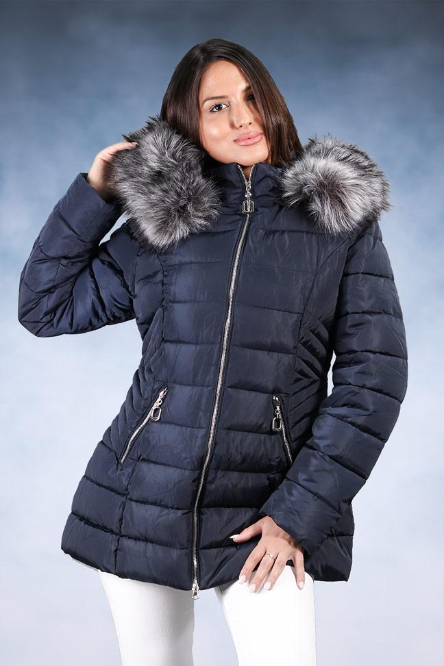 Ženska zimska jakna - Sportska i Casual - 1706-D - Plava