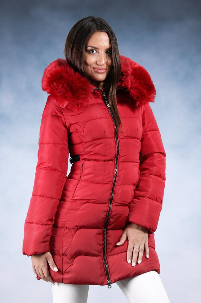 Ženska zimska jakna - Sportska i Casual - 1808 - Crvena