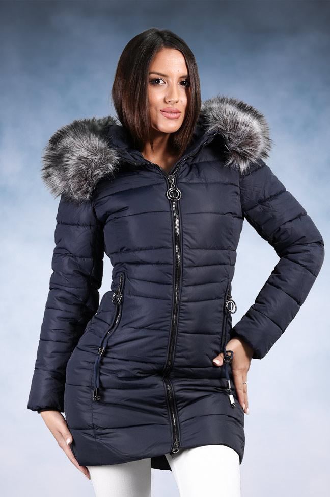 Ženska zimska jakna - Sportska i Casual - 1820 - Teget