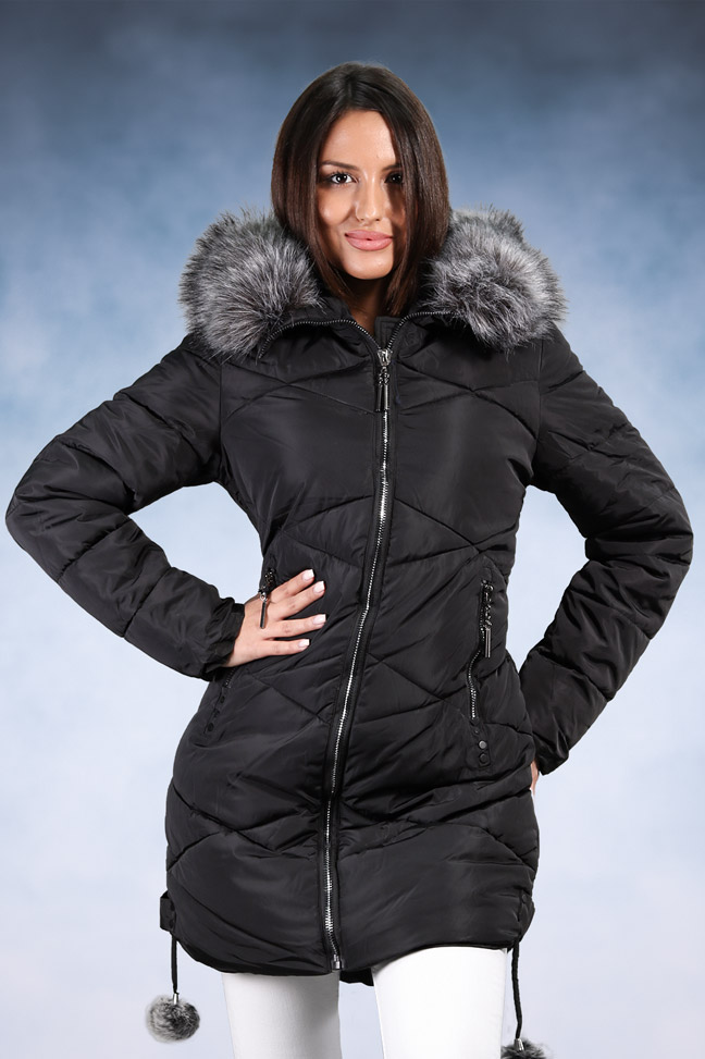 Ženska zimska jakna- Sportska i Casual- 8005- Crna