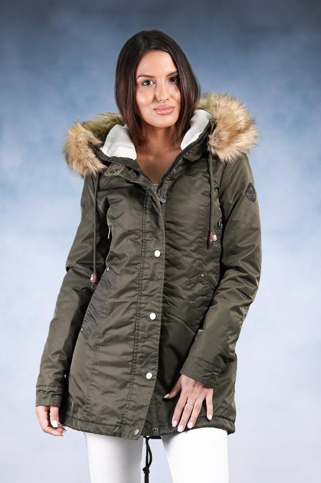 Ženska zimska jakna - Sportska i Casual - Invento Carolina - Zelena