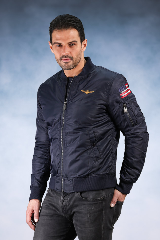 Muška zimska bomber jakna - Staff Cruz - Teget