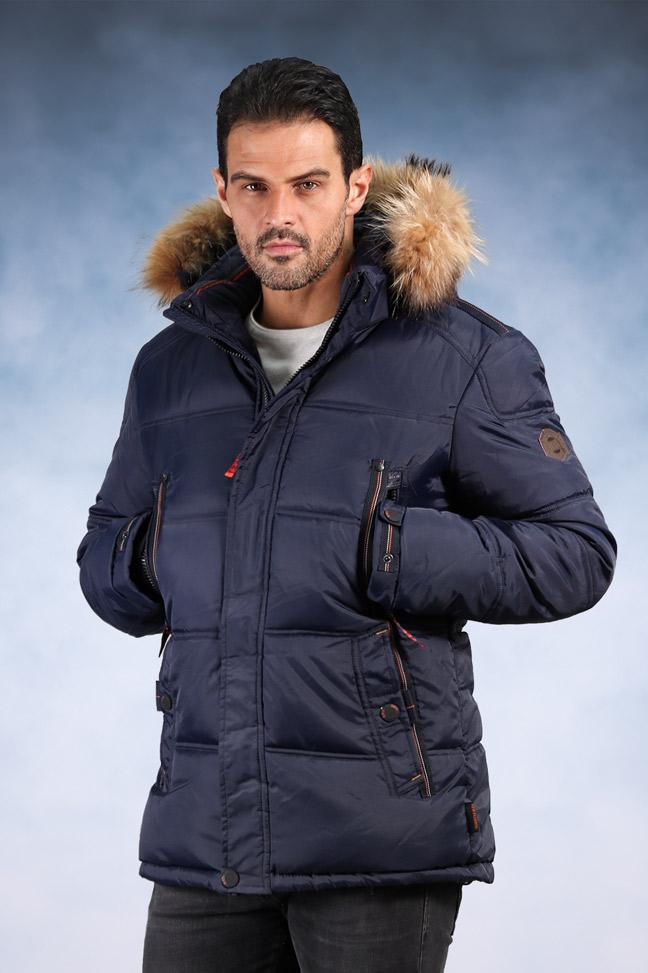 Muška zimska jakna - Sportska i Casual - 1813- Plava