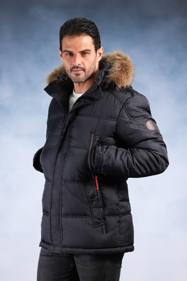 Muška zimska jakna - Sportska i Casual - 1813- Teget