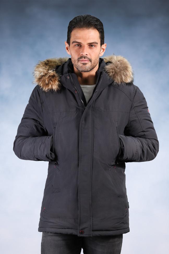 Muška zimska jakna - Sportska i Casual - 198027 - Siva