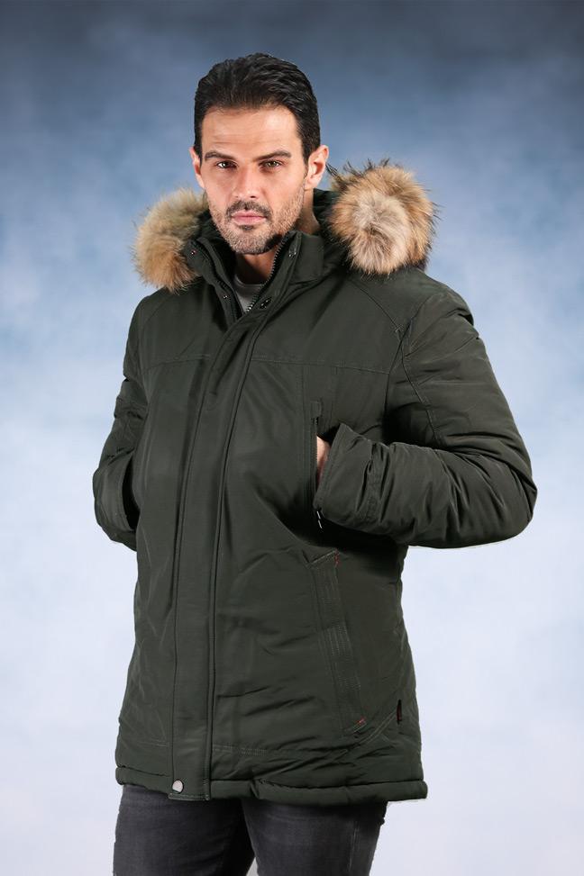 Muška zimska jakna – Sportska i Casual – 198027 – Zelena