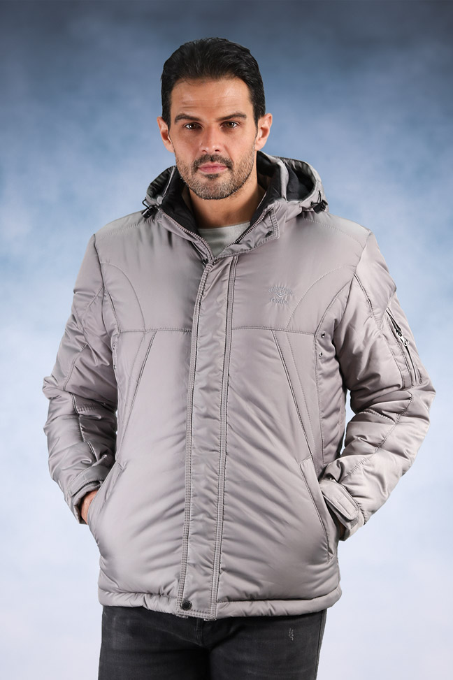 Muška zimska jakna - Sportska i Casual - 4011 - Siva