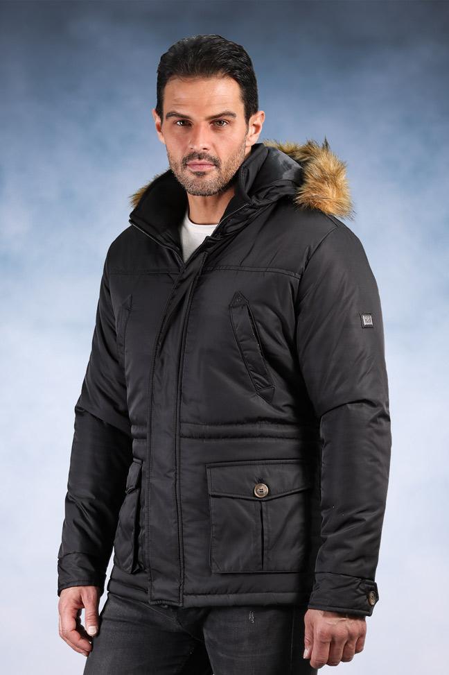 Muška zimska jakna - Sportska i Casual - 9003 - Crna