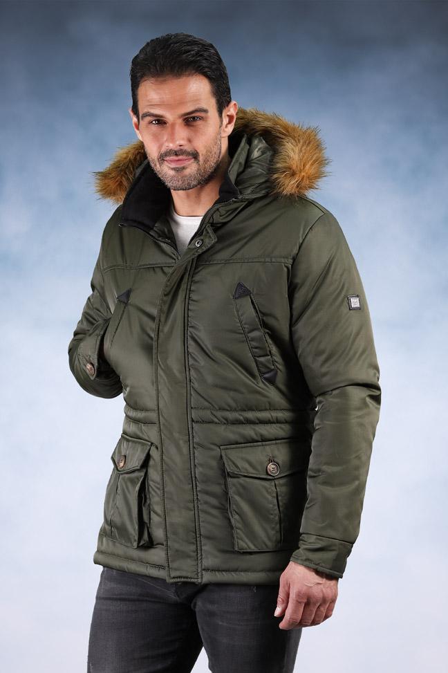 Muška zimska jakna - Sportska i Casual - 9003 - Zelena