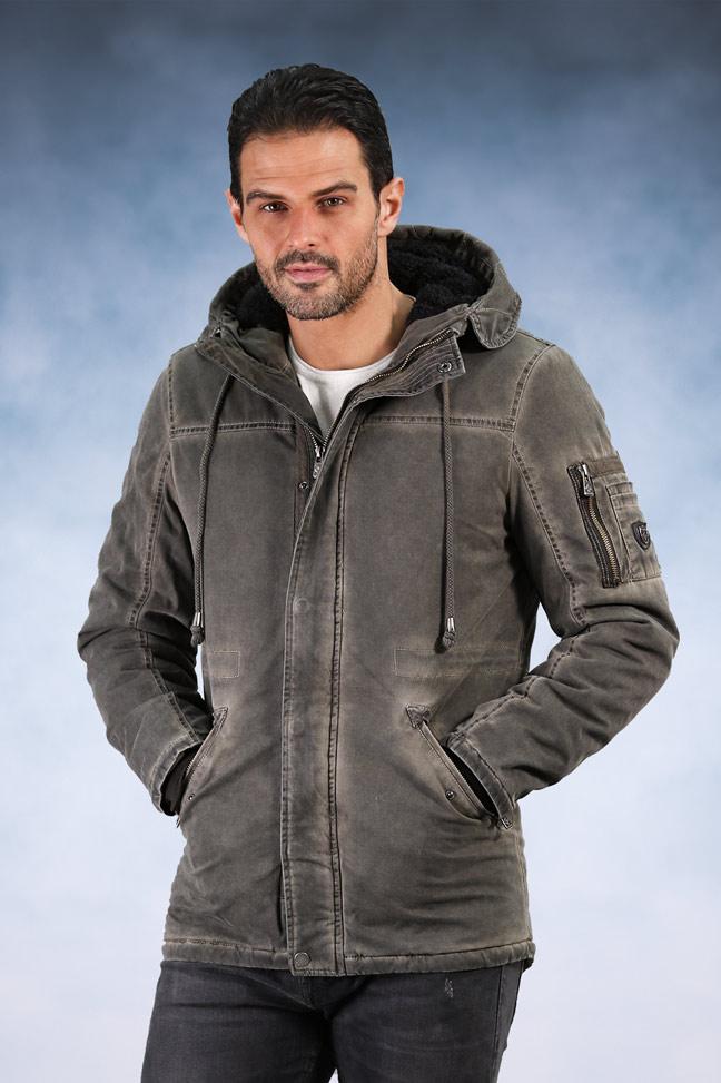 Muška zimska jakna - Sportska i Casual - Invento Alberto - Siva
