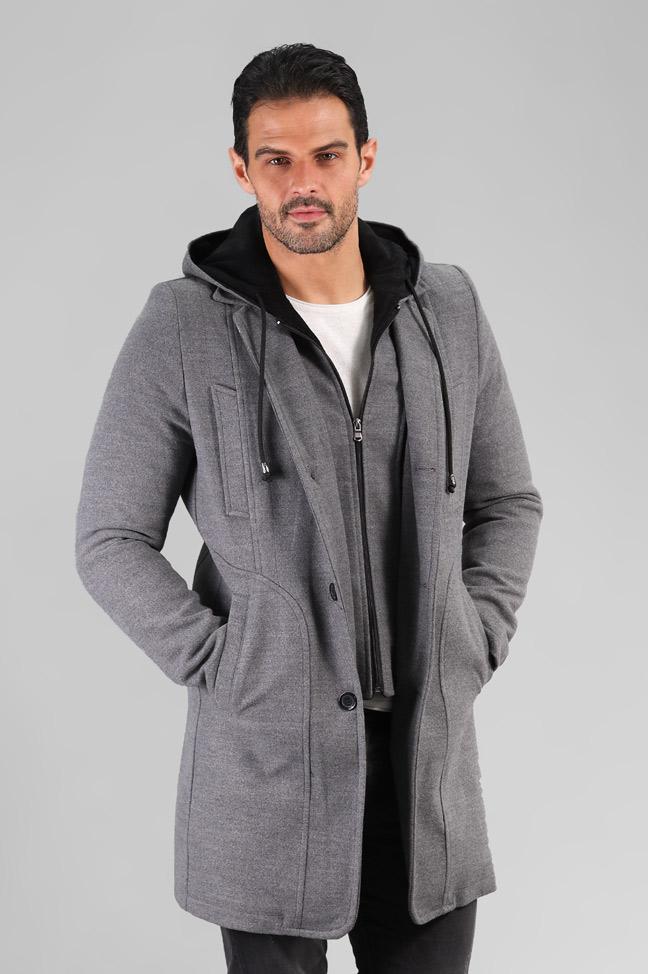 Muški kaput – 0323 – Siva