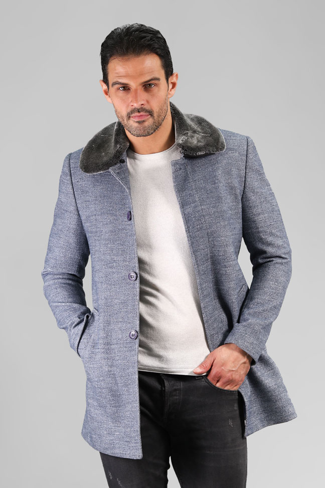 Muški kaput – 3022 – Plava