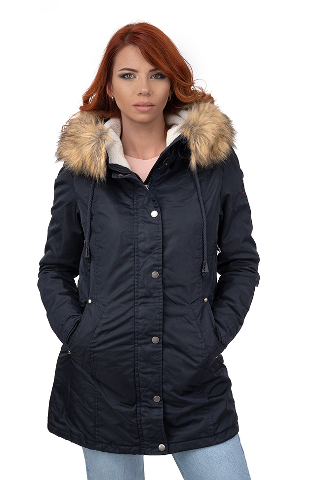 Ženska zimska jakna - Sportska i Casual - Invento Carolina - Teget