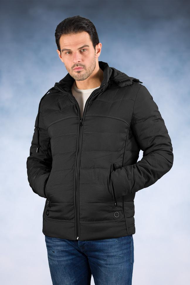 Muška zimska jakna - Sportska i Casual - 8106 - Crna