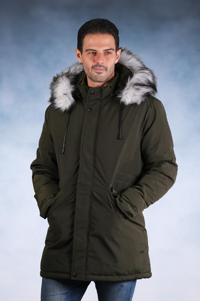 Muška zimska jakna - Parka - 82560-2 - Zelena