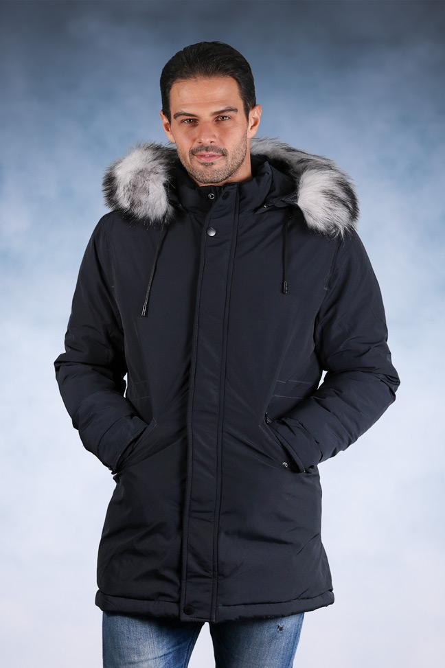 Muška zimska jakna - Parka - 82560-3 - Teget