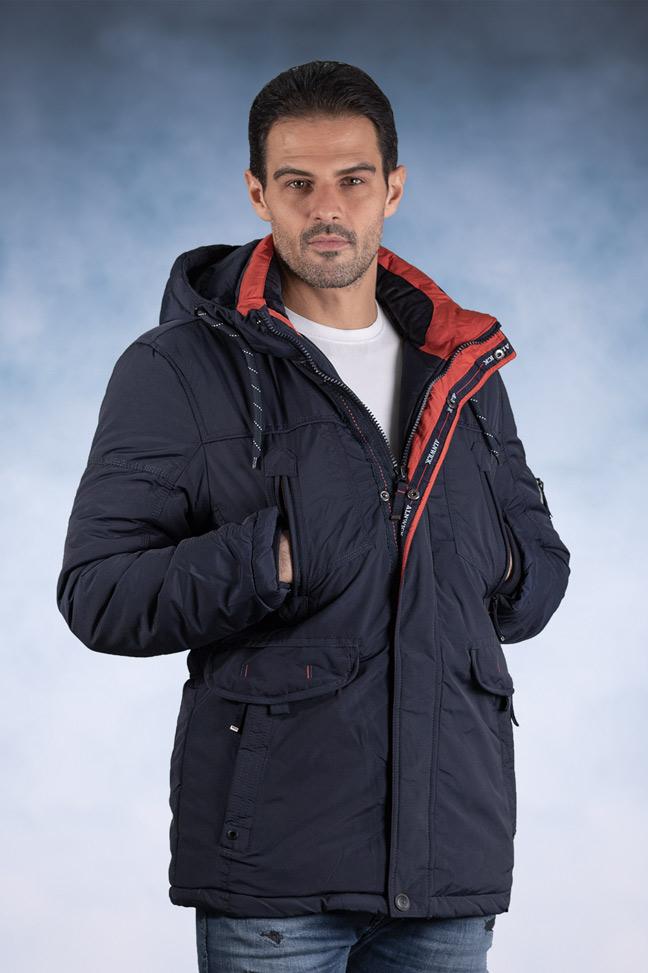Muška zimska jakna - Sportska i Casual - 82598-1 - Teget