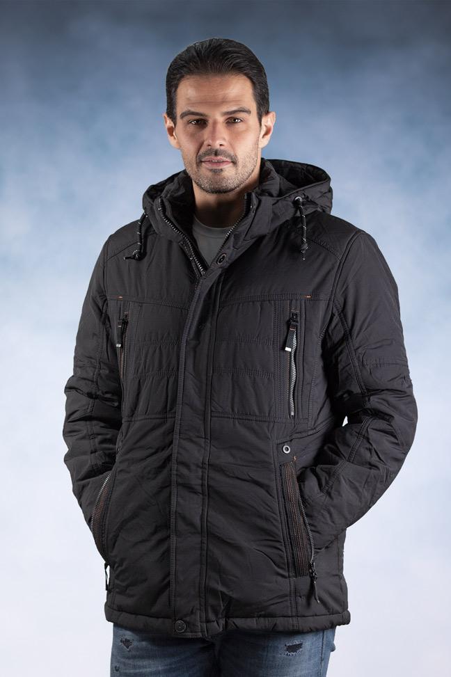 Muška zimska jakna - Sportska i Casual - 82600-2 - Crna