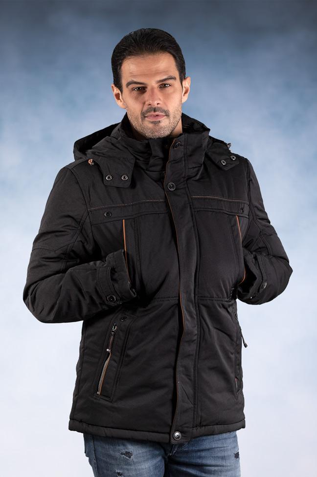 Muška zimska jakna - Sportska i Casual - 82605-2 - Crna