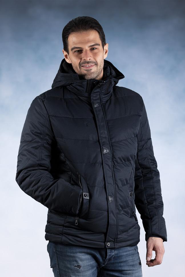 Muška zimska jakna - Sportska i Casual - 82700-2 - Teget