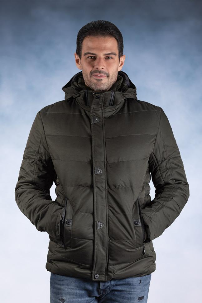 Muška zimska jakna - Sportska i Casual - 82700-3 - Zelena