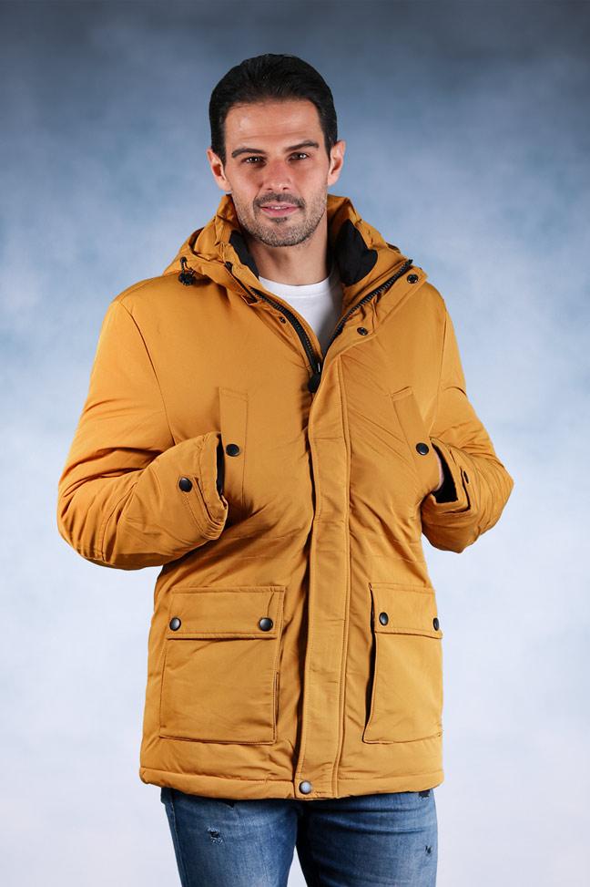 Muška zimska jakna - Sportska i Casual - 92500-7 - Žuta