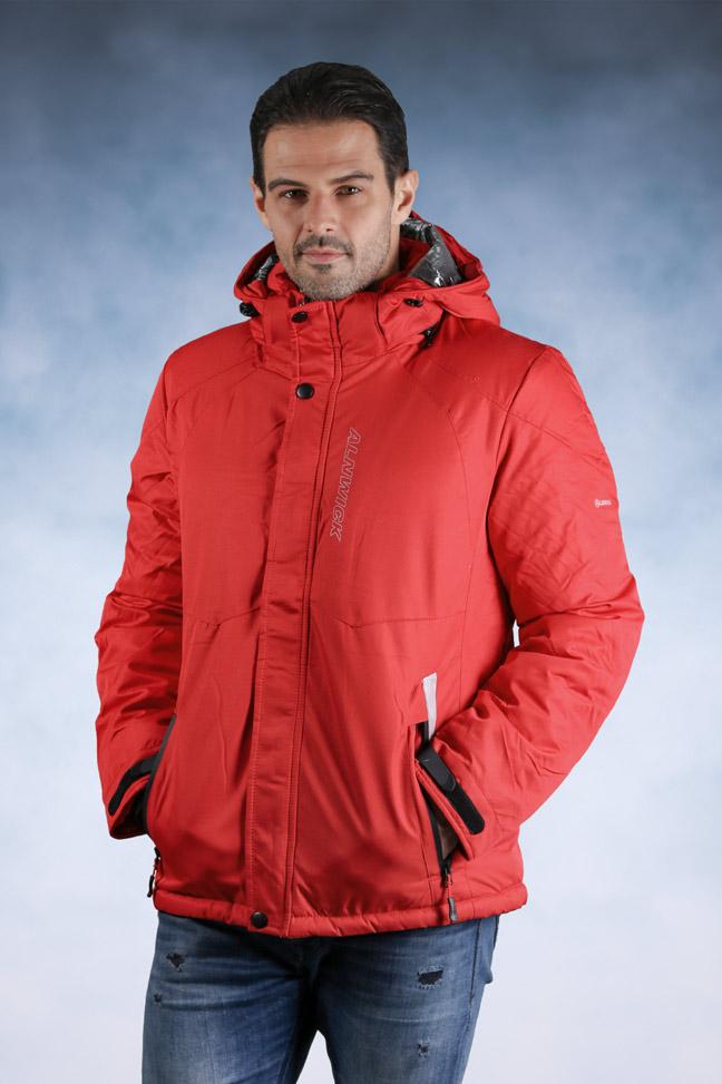 Muška zimska jakna - Sportska i Casual - 92503-8 - Crvena