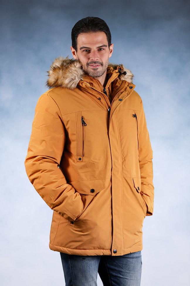 Muška zimska jakna - Sportska i Casual - 92547-5 - Žuta