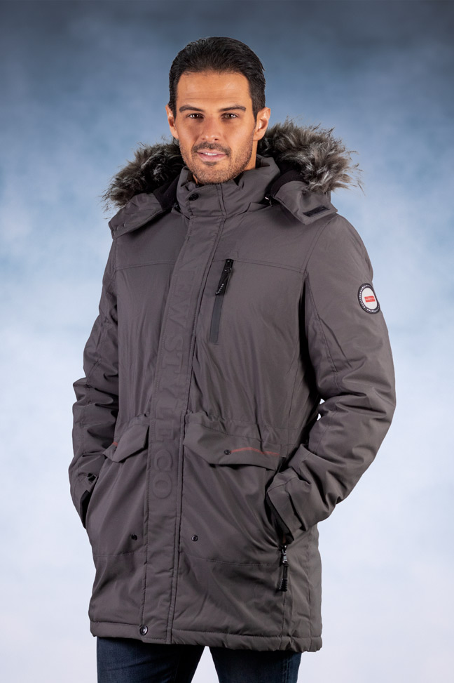 Muška zimska jakna - Sportska i Casual - 9249 - Siva