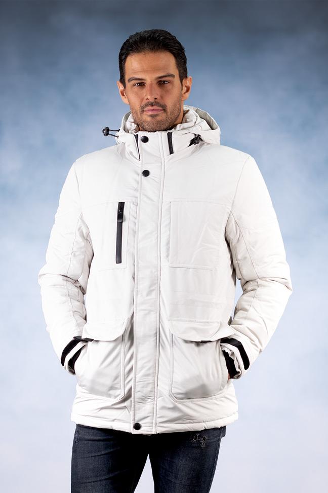 Muška zimska jakna - Sportska i Casual - 92501-9 - Bela